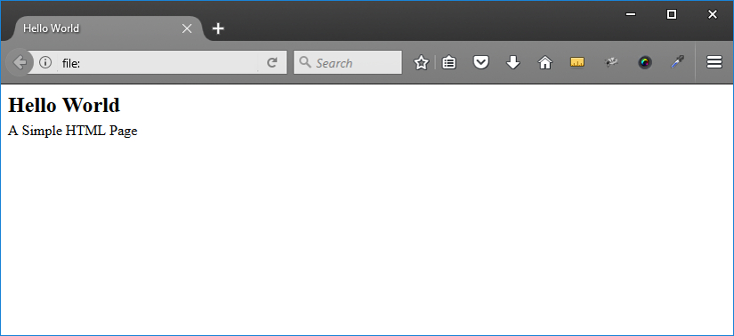 create simple HTML page browser screenshot