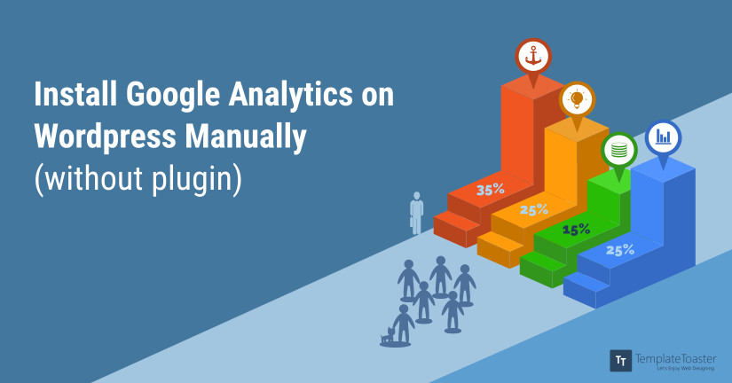 Install Google Analytics on WordPress Manually (without plugin) blog image