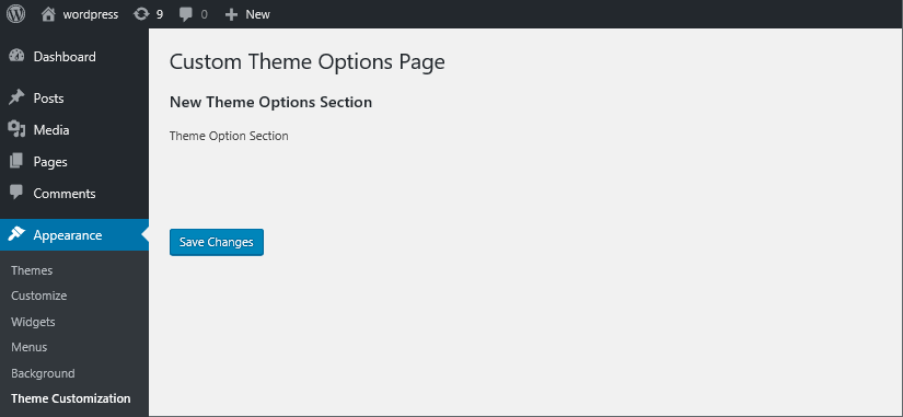 wordpress settings api theme options