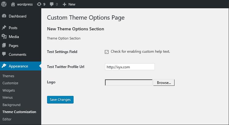 WordPress Settings API: Creating WordPress Theme Options