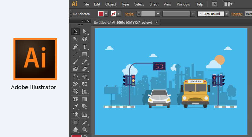Illustrator graphic design software