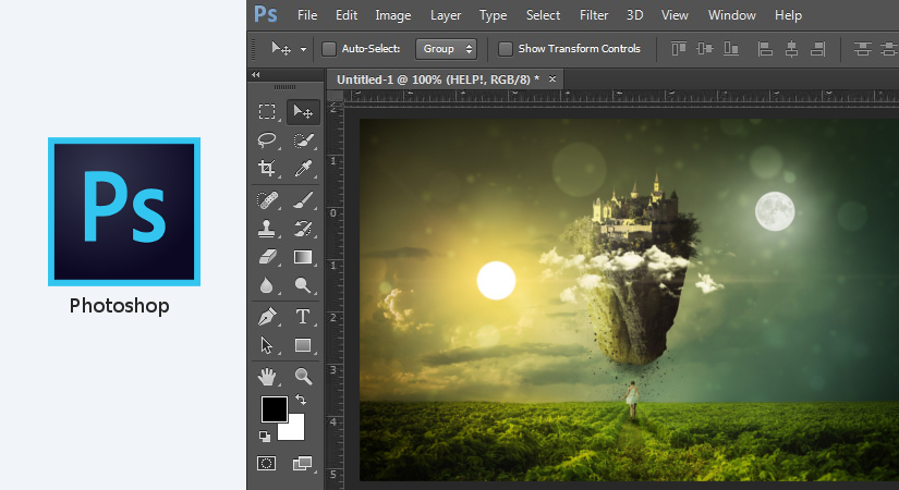 Photoshop graphic design software