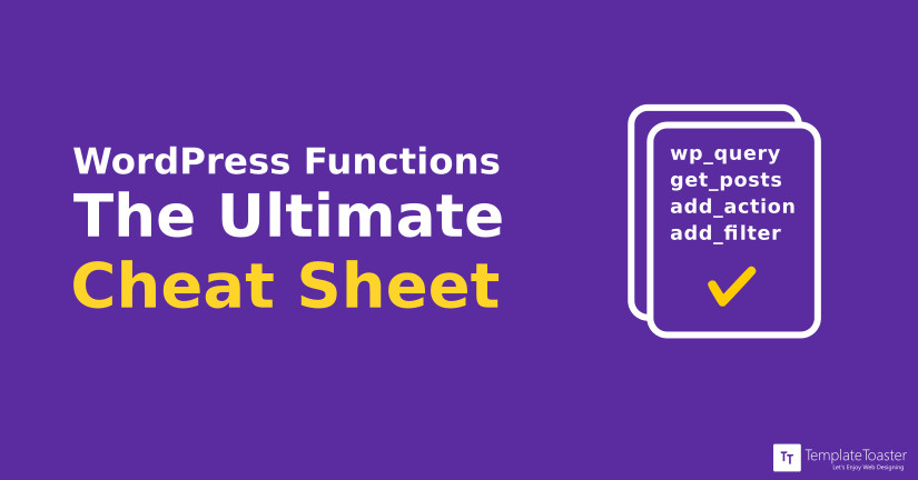 Wordpress functions the ultimate cheat sheat blog image