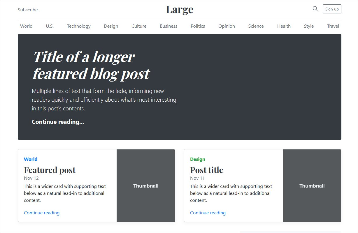 blog page example bootstrap 4 stable release update