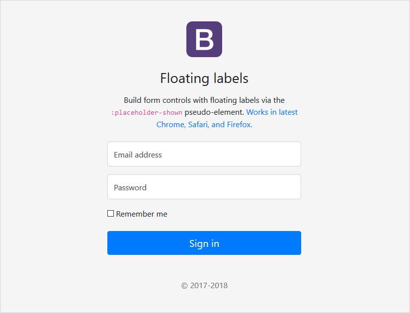 floating labels page example bootstrap 4 stable release update