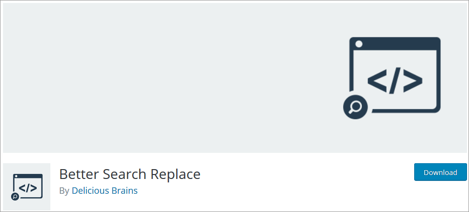 Better Search Replace wordpress plugin