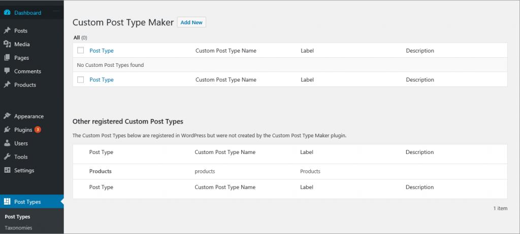 CPTM WordPress Custom Post Type Plugins list