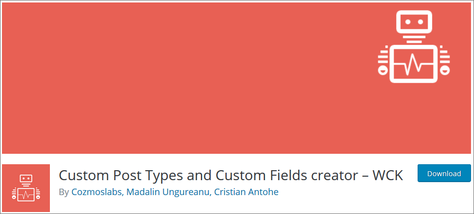 Custom-Post-Types-and-Custom-Fields-creator WordPress Custom Post Type Plugins list