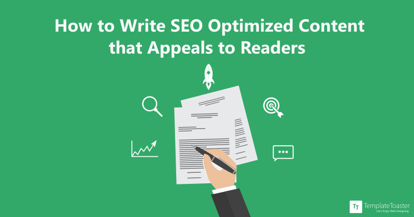 How to Write SEO Optimized Content that Appeals to Readers Blog image
