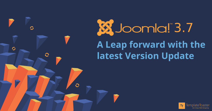 Joomla! 3.7 A Leap Forward with the latest Version Update Blog image