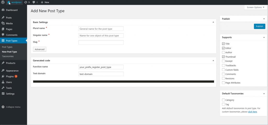 MBox WordPress Custom Post Type Plugins list