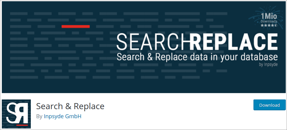 Search & Replace wordpress plugin