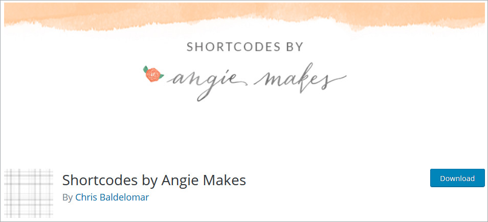 Shortcodes by Angie Makes WordPress Shortcode Plugins list