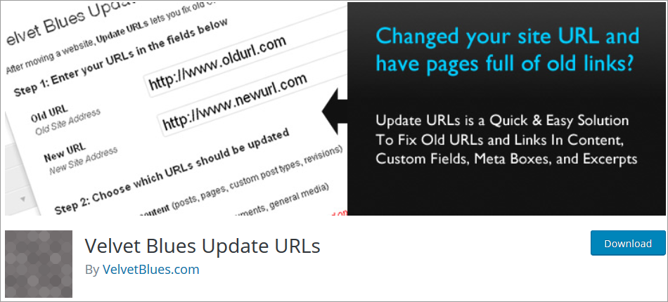 How to Mass Change old URLs in Website Database after Migration