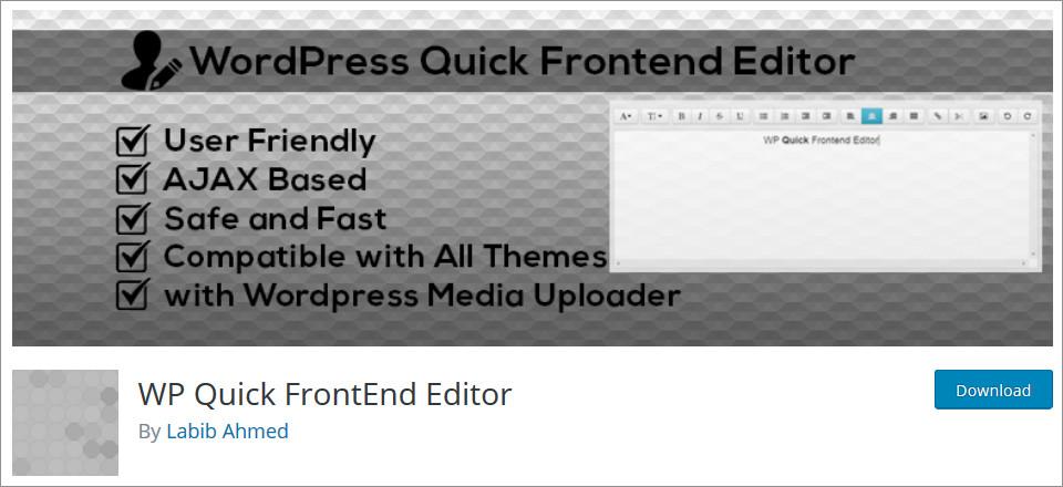 Best WordPress Front End Editor Plugins (2019