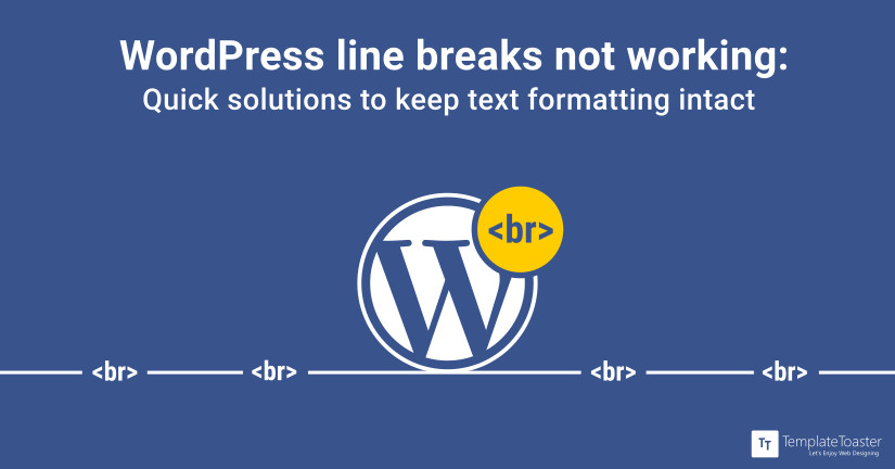 WordPress line break not working blog