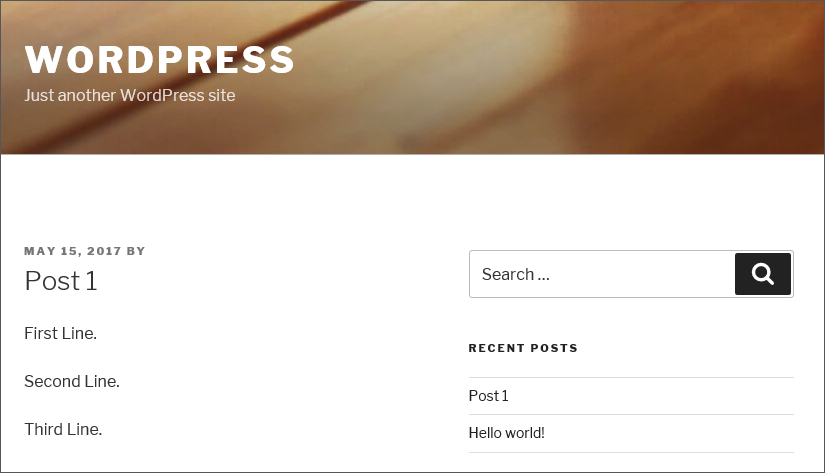 WordPress line breaks filter2