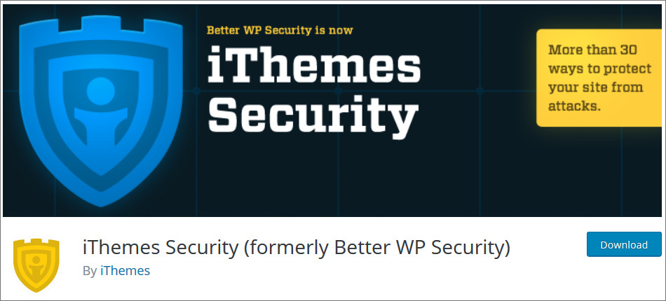 iThemes-Security WordPress Security Plugins list