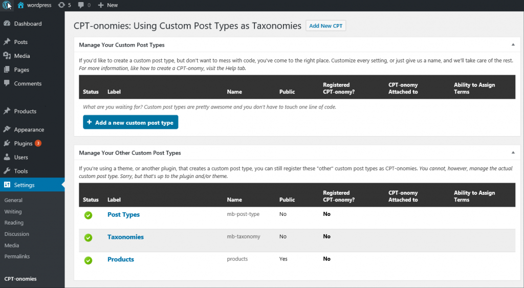 taxo WordPress Custom Post Type Plugins list