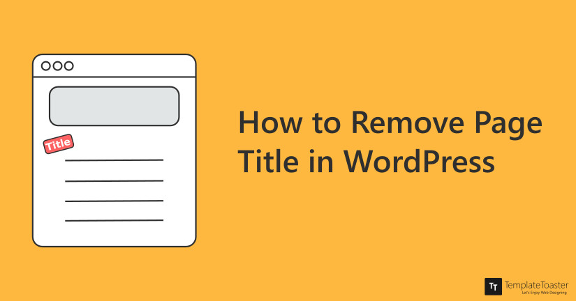 How to remove Page title in WordPress Blog