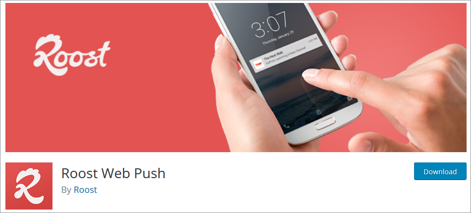 WordPress Push Notifications plugin Roost Web Push