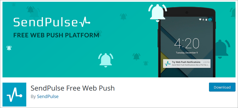 WordPress Push Notifications plugin SendPulse Free Web Push