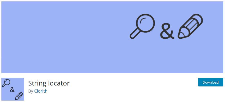 String locator wordpress plugin to find a line of code in a website