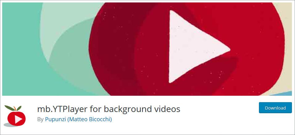 WordPress Video Background Plugin: mb.YTPlayer