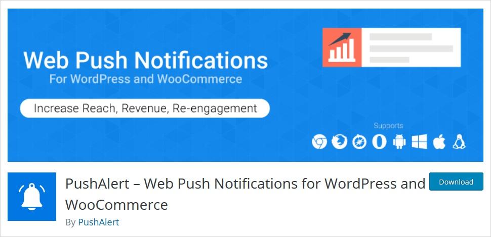 WordPress push notifications plugin - pushalert