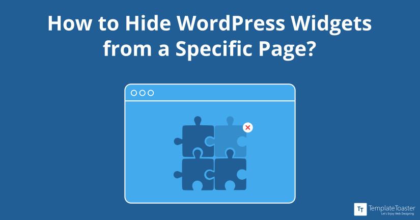 Hide WordPress widgets on specific page