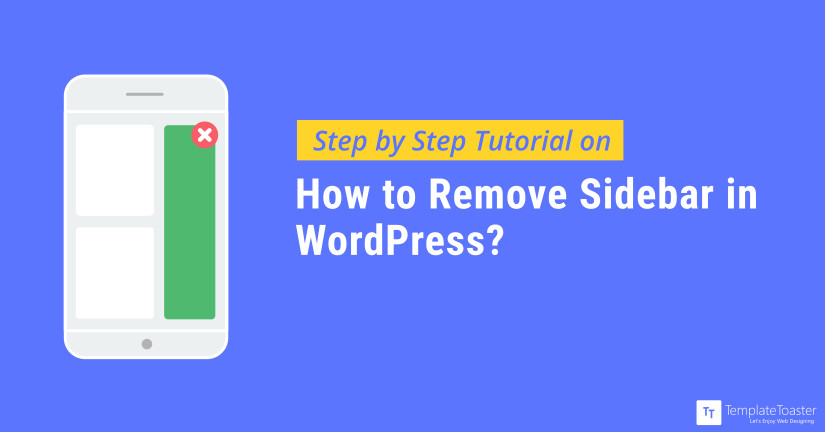 WordPress Remove Sidebar