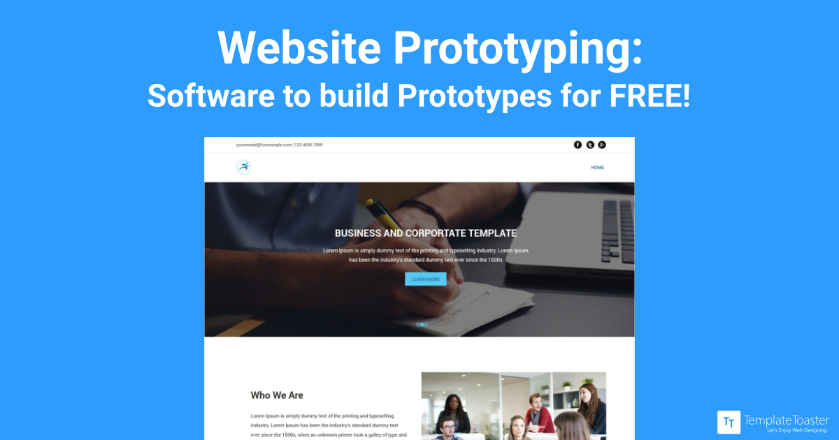 Website Prototyping Software To Build Prototypes For Free Templatetoaster Blog