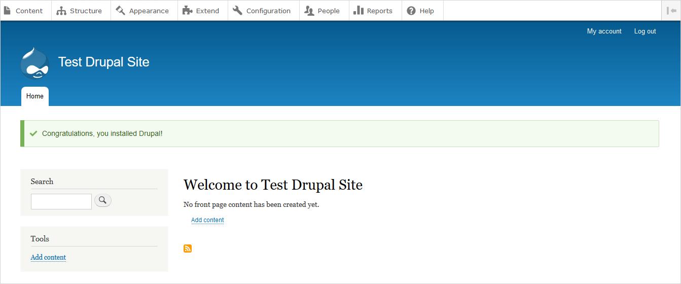 Install Drupal 8