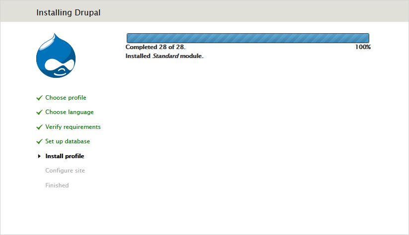 Install Drupal 7
