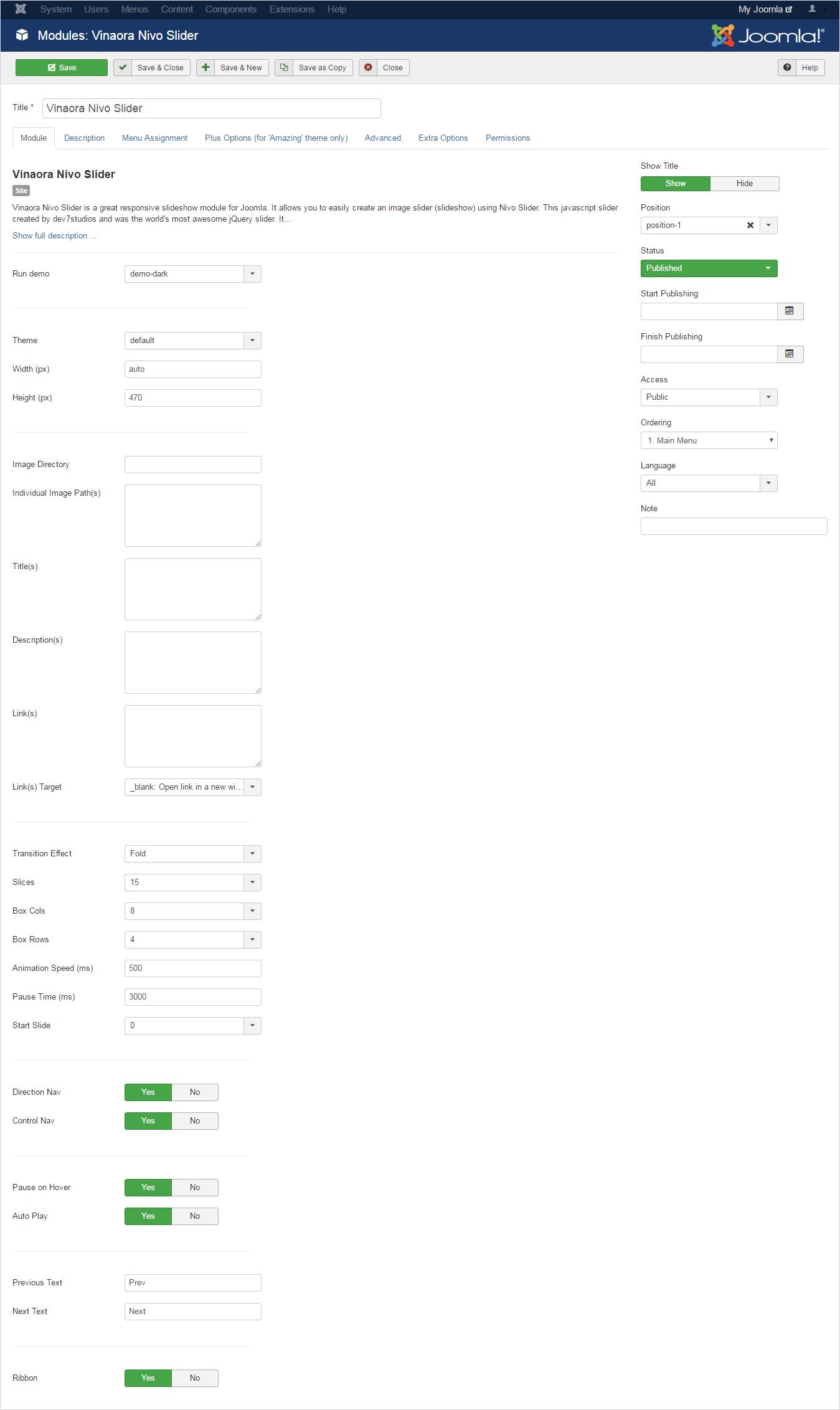 Joomla Slideshow Modules
