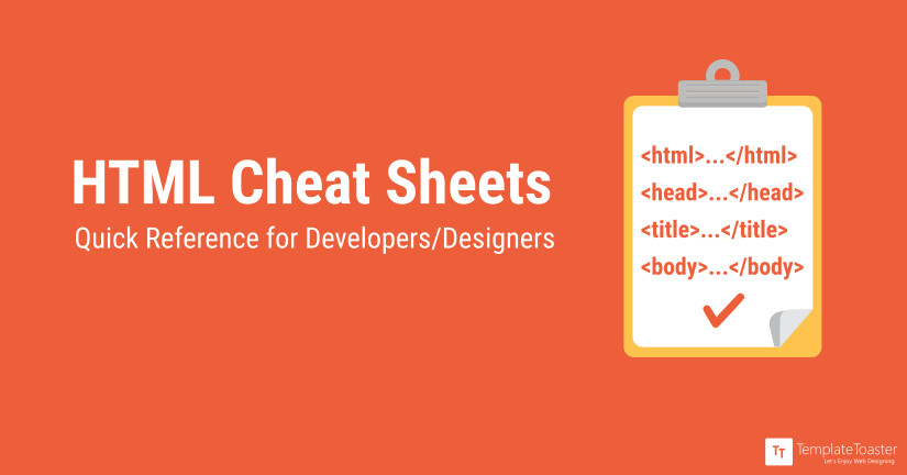 html cheat sheets quick reference for developers designers