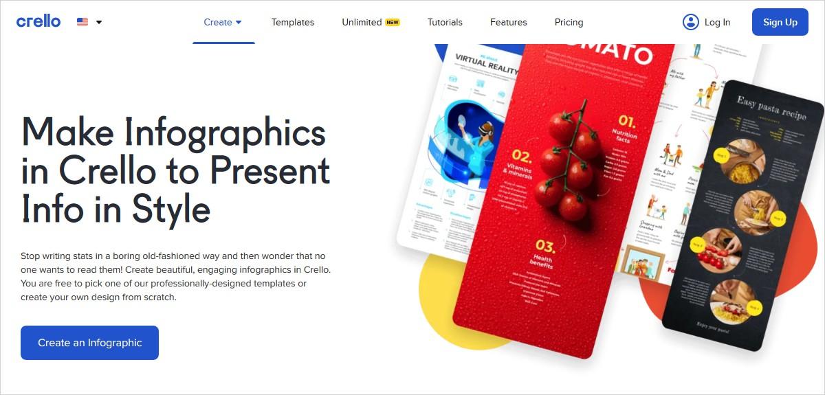 crello infographic maker