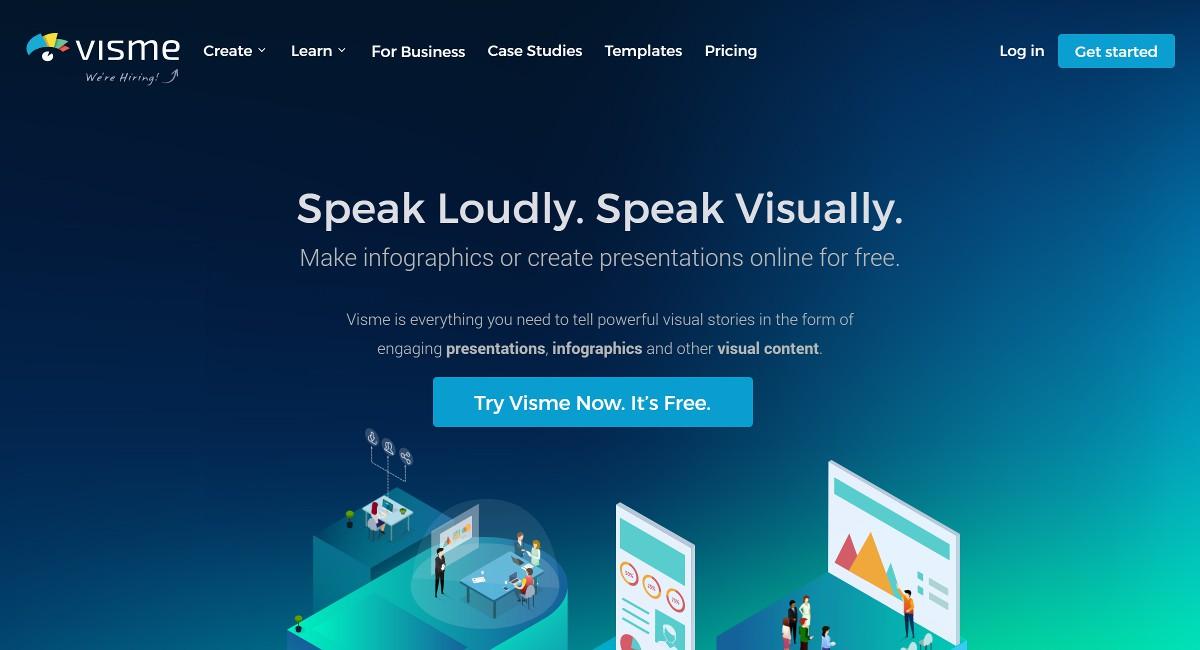visme infographic maker software