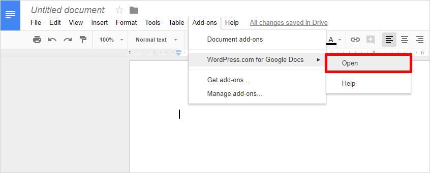 Google Docs to WordPress