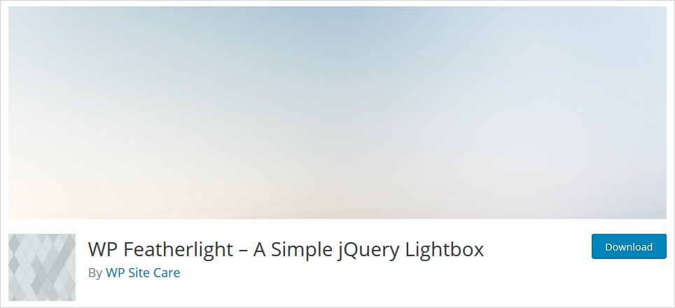 featherlight wordpress lightbox plugin list