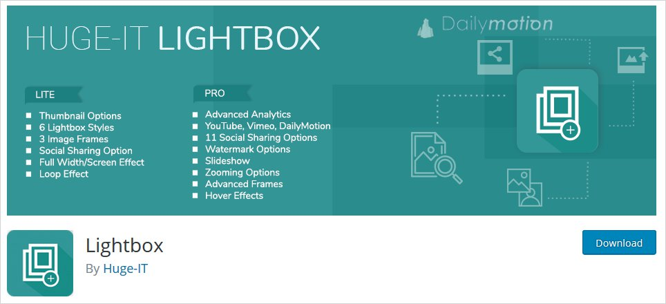 huge it wordpress lightbox plugin list