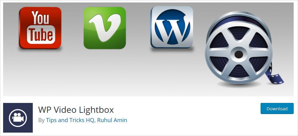 wp vedio wordpress lightbox plugin list