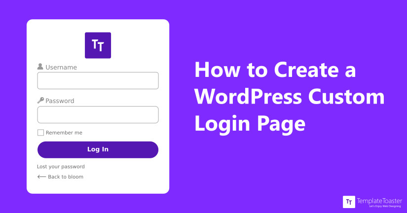 wordpress custom login page