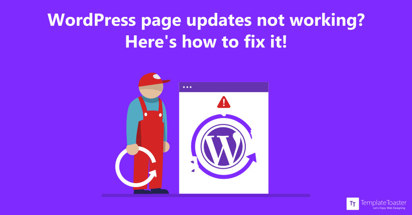 wordpress page updates not working