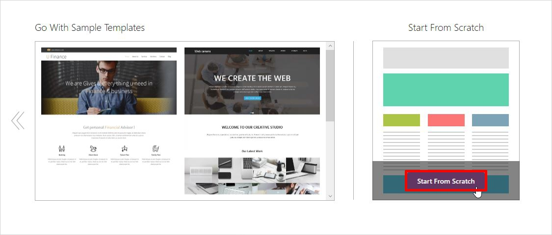 create custom page template wordpress