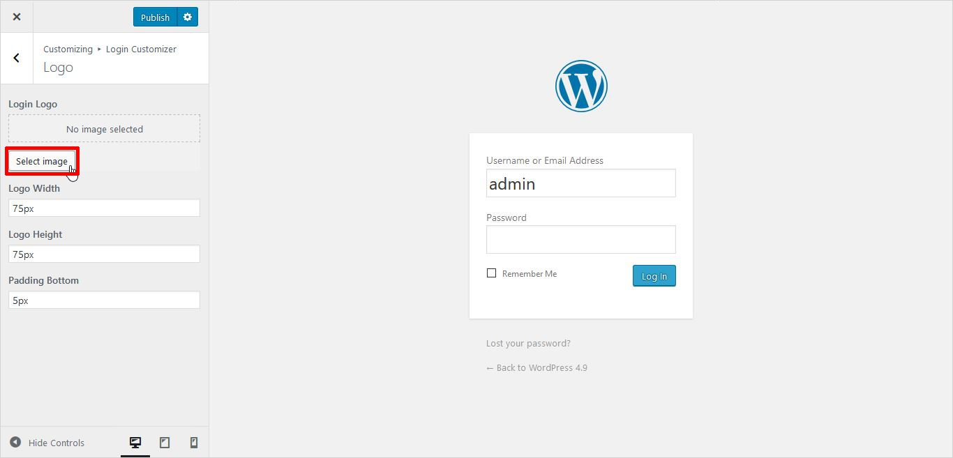 how to change logo in wordpress dashboard