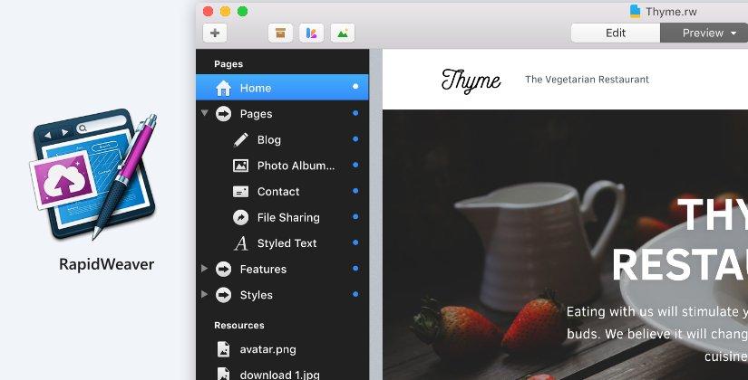 website design softwares