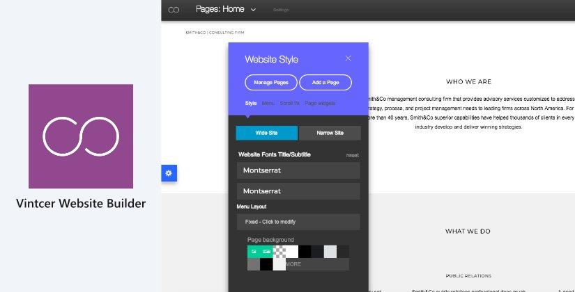 vintcer web design software list 2018 blog