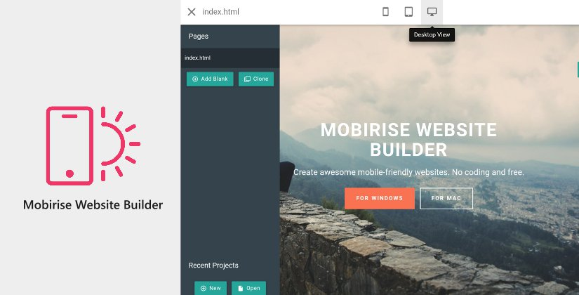 mobirise web design software