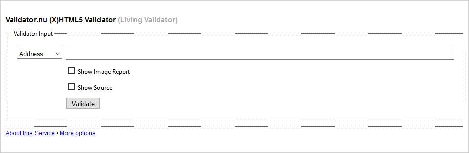 the nu html5 validator list